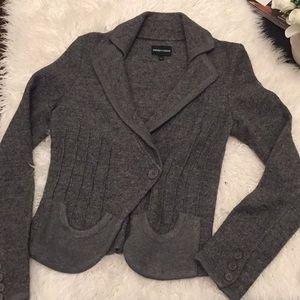 Emporio Armani wool blazer jacket gray 40